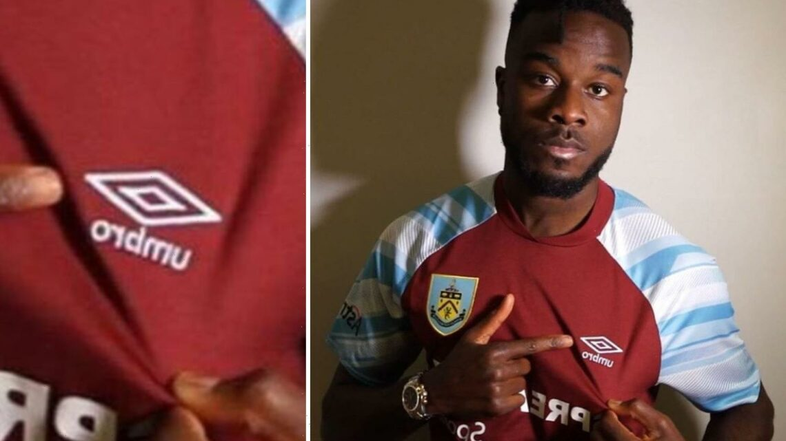 Burnley's record transfer Maxwel Cornet in embarrassing gaffe as winger mistakes Umbro logo for Clarets badge