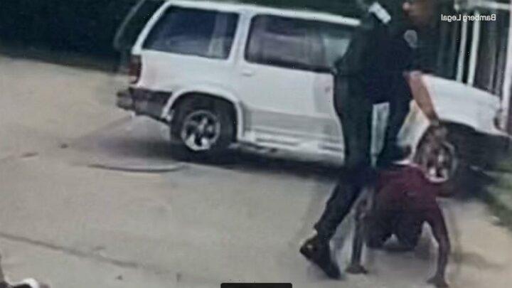California officer shoots at suspect but kills bystander