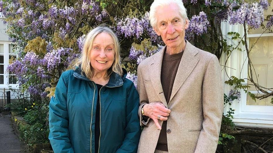 Charlie Watts poses with his wife of 57 years in final photo