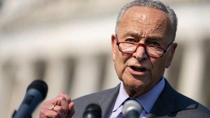 Chuck Schumer wags finger at GOP senators delaying infrastructure bill