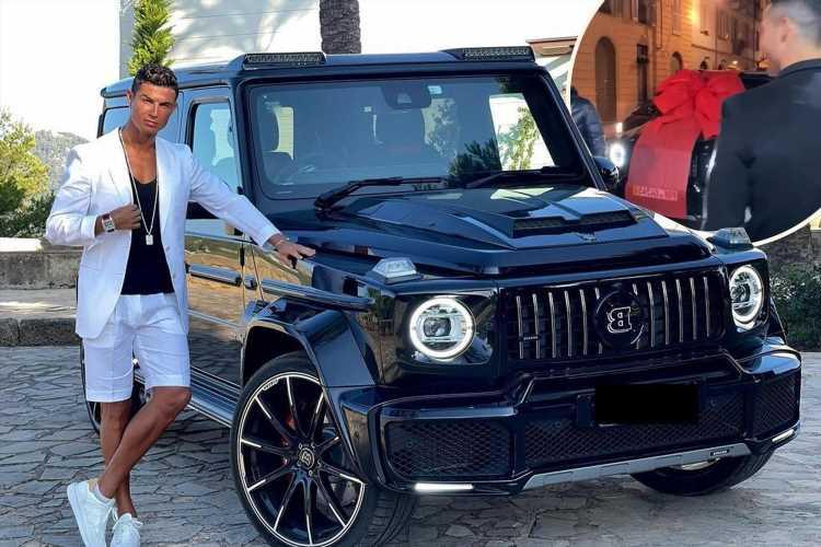 Cristiano Ronaldo shows off his custom £516k Brabus 'G-Wagon' given to him by Georgina Rodriguez as birthday gift