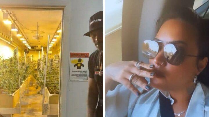 Demi Lovato Visits Pot Farm, Smokes Weed, Posts on IG