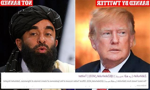 Donald Trump blasts Twitter for banning him but not the Taliban