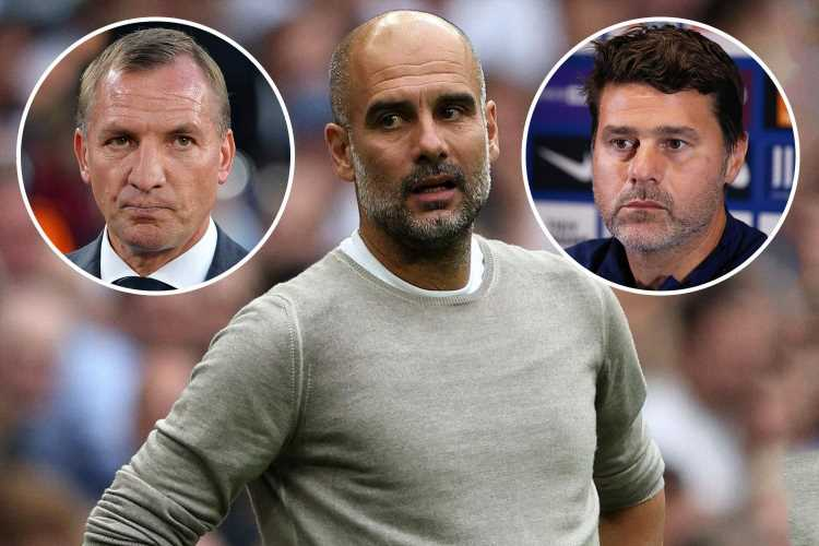 Five managers who could replace Pep Guardiola at Man City with Mauricio Pochettino and Brendan Rodgers in running