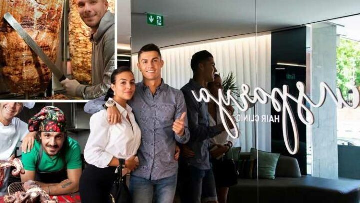 Footballers' mad business ventures, from Cristiano Ronaldo's hair transplant clinic to Lukas Podolski's kebab shops