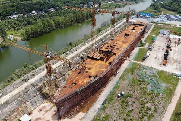 Full-scale £110m Titanic replica lies rusting in China after outrage over plans to recreate iceberg crash