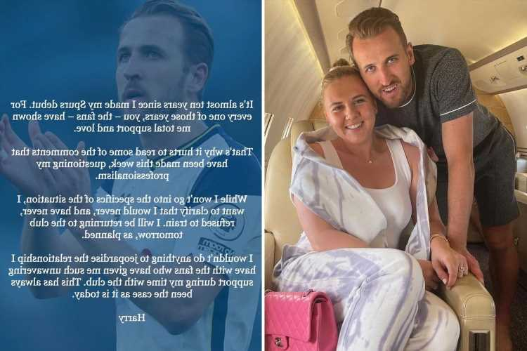 Harry Kane releases statement over Tottenham transfer future and insists he will NOT go on strike to force Man City move