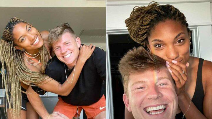 Hunter Woodhall calls girlfriend Tara Davis 'my hero' after her Olympic debut