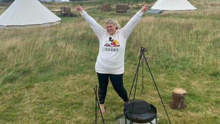 Inside Gemma Collins' incredible £170 a night Cornwall staycation as she camps in a giant teepee