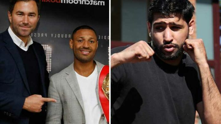 Kell Brook crashes Eddie Hearn interview to demand Amir Khan grudge match & says fight is second to just Joshua vs Fury