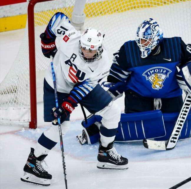 Knight ties goal record; U.S. women beat Finland