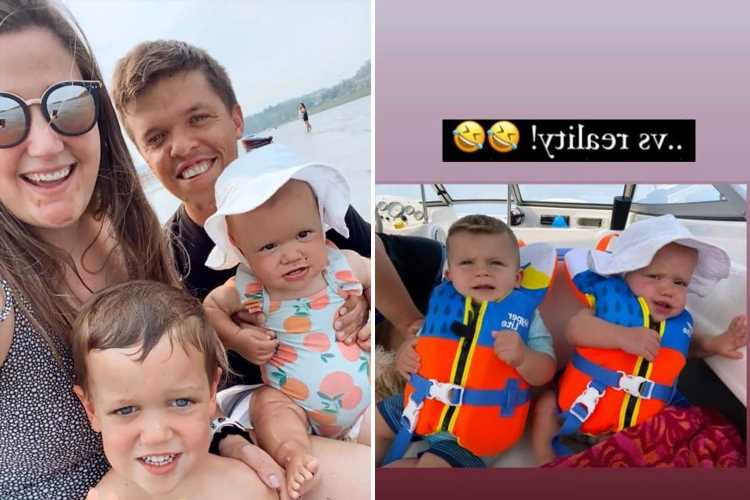Little People's Tori Roloff enjoys boat trip with husband Zach and their two kids after crying over miscarriage
