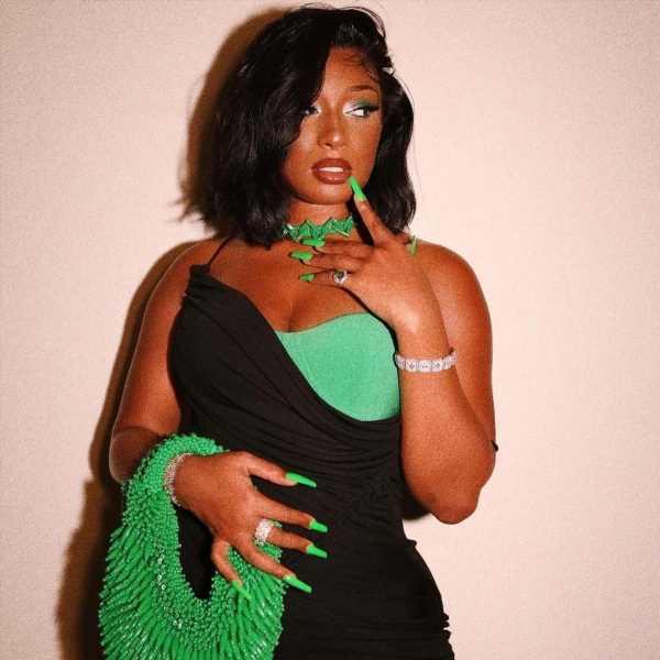Megan Thee Stallion Wore Head-to-Toe Slime Green Bottega Veneta