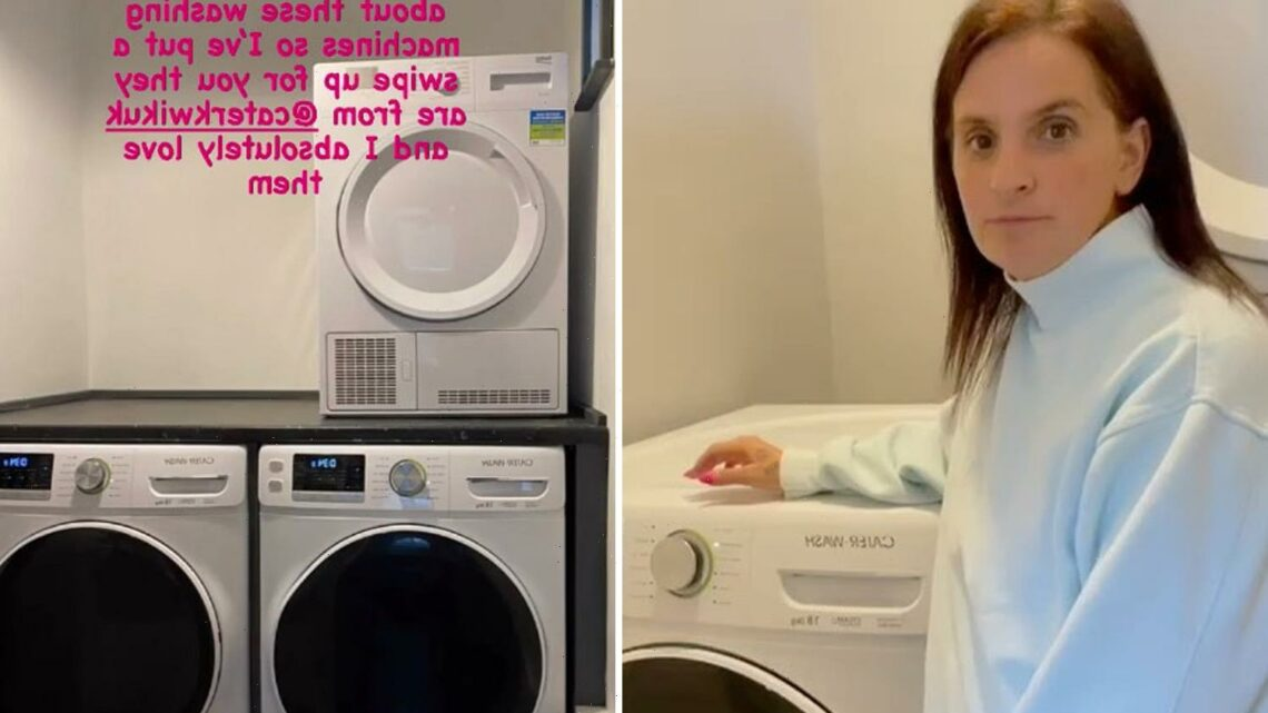 Mum-of-22 Sue Radford shows off fancy new laundry room with THREE £1.2k washing machines taking 18kg of clothes each