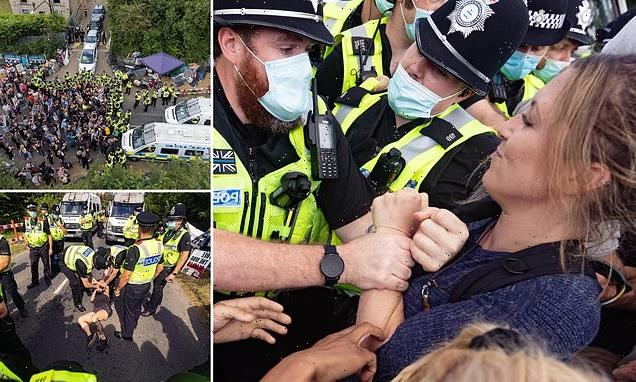 Police clash with animal rights activists