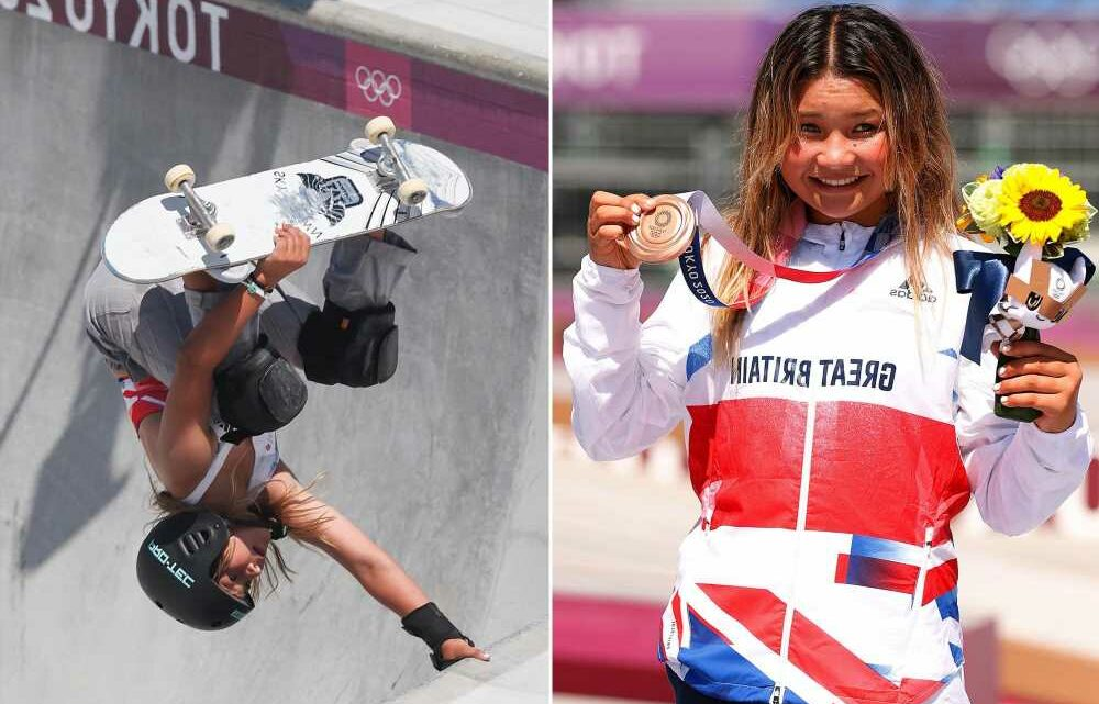 Skateboarder makes history, becomes youngest British Olympic medallist