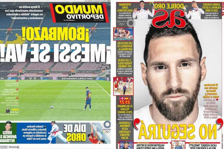 Stunned Spanish press' response to Lionel Messi's bombshell Barcelona exit as they claim LaLiga are to blame