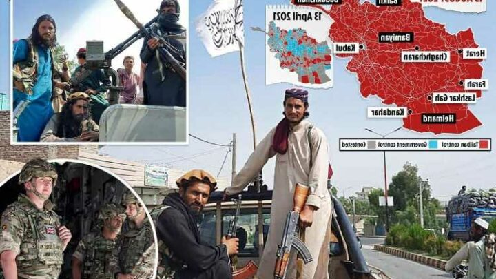 Thousands of Brits desperately try to flee Kabul as Taliban seize Afghan capital