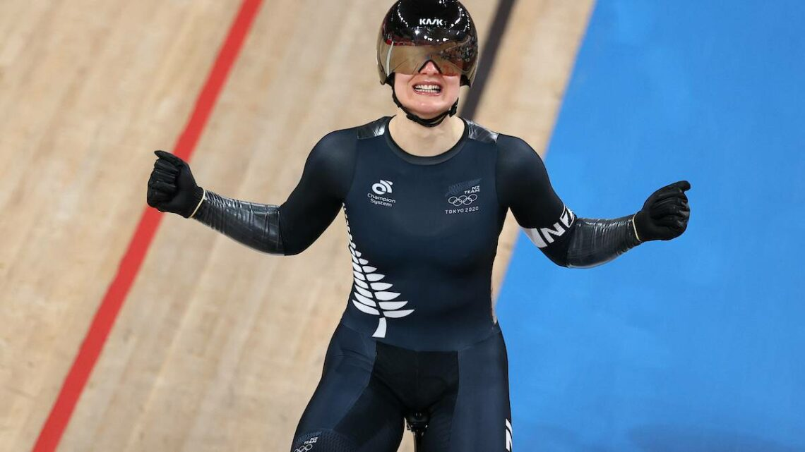Tokyo Olympics 2020: Kiwi cyclist Ellesse Andrews claims silver in keirin final