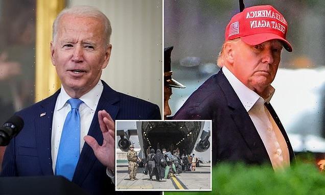 Trump says Biden is 'surrendering to terrorists' with Aug. 31 deadline