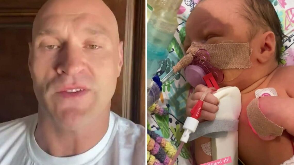 Tyson Fury's dad says baby daughter Athena 'died for three minutes' before 'miracle' hospital workers revived her
