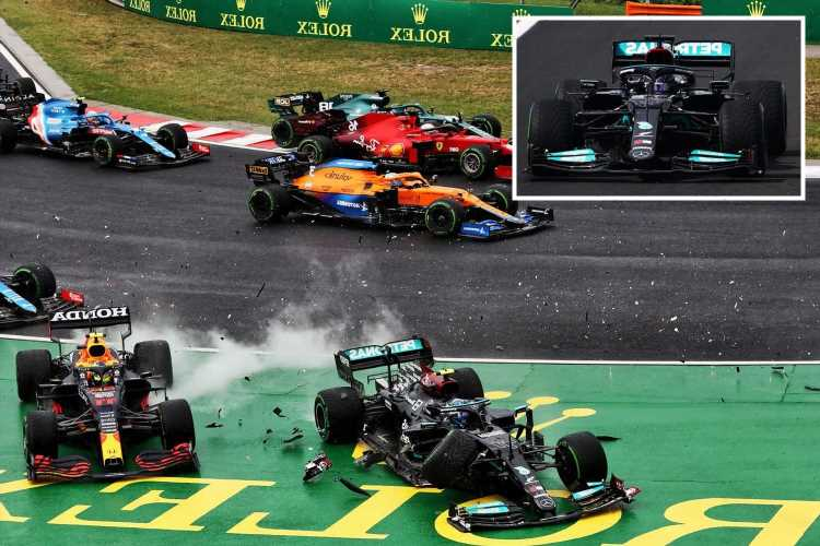 Verstappen blasts Bottas as he is wiped out by McLaren for SECOND race in a row… & loses championship lead to Hamilton