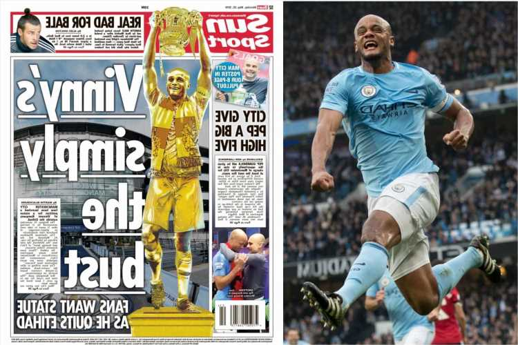Vincent Kompany's Man City statue to be unveiled next weekend ahead of Arsenal clash after trophy-laden Etihad career