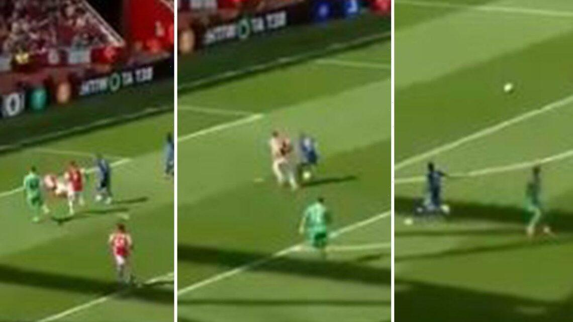 Watch Chelsea star Hakim Ziyech miss OPEN GOAL vs Arsenal as Gooners praise newbie Ben White for 'goal-saving' chase