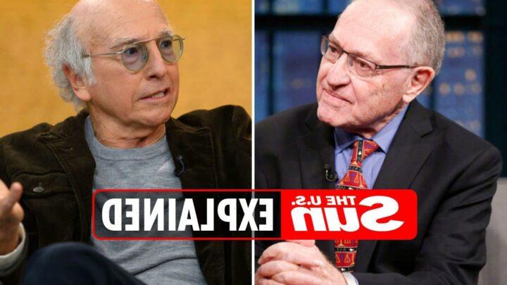 What happened between Larry David and Alan Dershowitz?