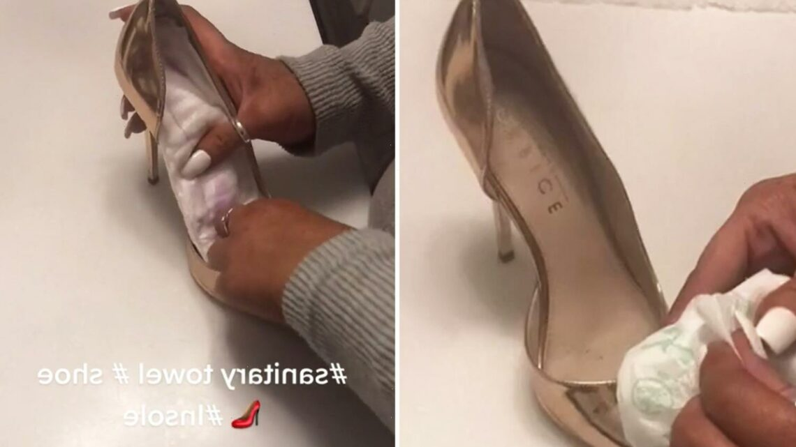 Woman reveals genius tip to never have sore feet on a night out in heels & it's way cheaper than shoe gels