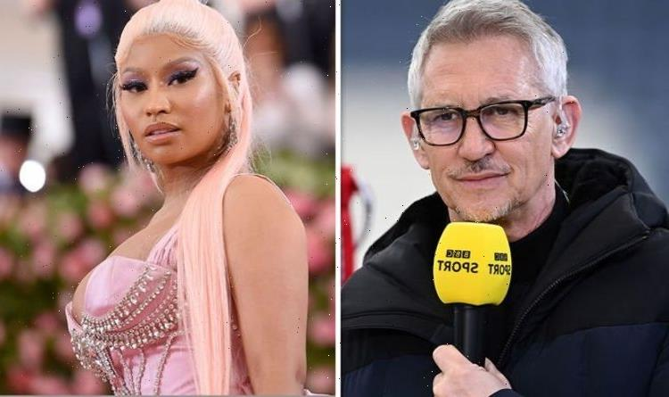 'Massive b******s' Gary Lineker blasts Nicki Minaj's 'swollen testicles' Covid jab claim