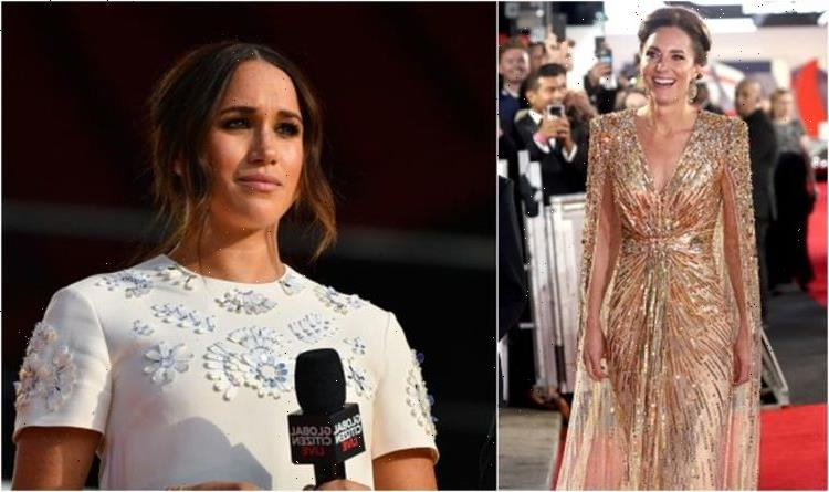'Secretly sending messages to Meghan': Kate causes huge spike in 'gold dress' searches
