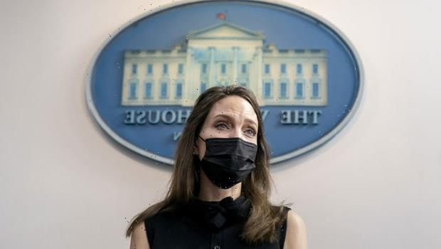 Angelina Jolie Nervously Giggles At White House Podium As She Discusses Violence Against Women Act