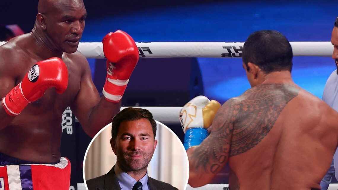 Anthony Joshua's promoter Eddie Hearn slams Evander Holyfield's fight with Vitor Belfort and says 'it disgusted me'