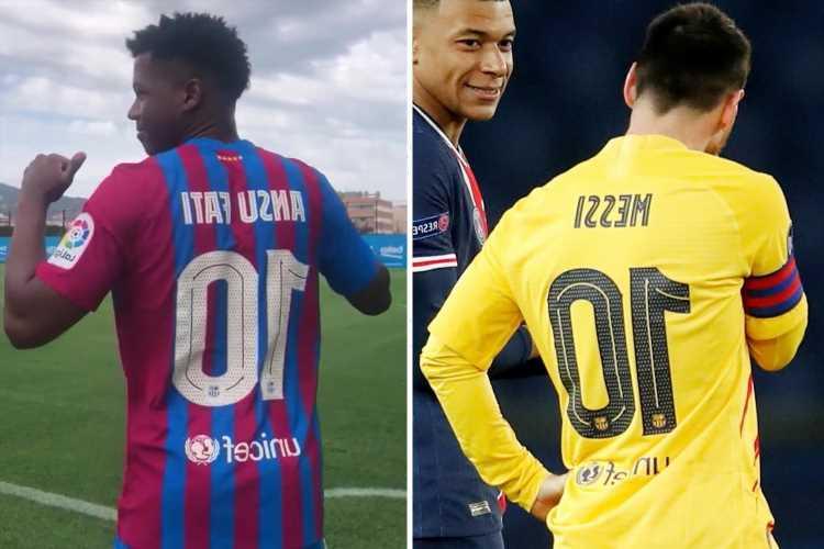 Barcelona hand Ansu Fati Lionel Messi's iconic No10 shirt despite calls from Ronaldinho to retire jersey