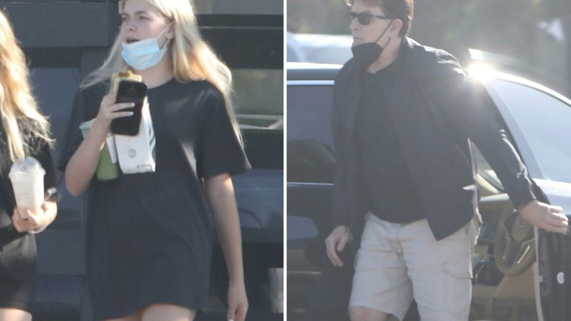 Charlie Sheen & Denise Richards' daughter Lola, 16, seen with dad after her sister Sami's 'abuse' claims against parents