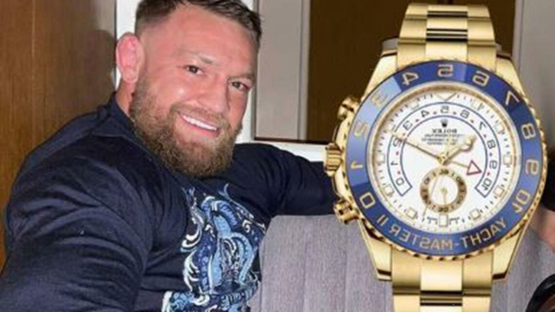 Conor McGregor wears 'biggest Rolex there is' as UFC superstar adds £35k Yacht-Master to £1million-plus watch collection