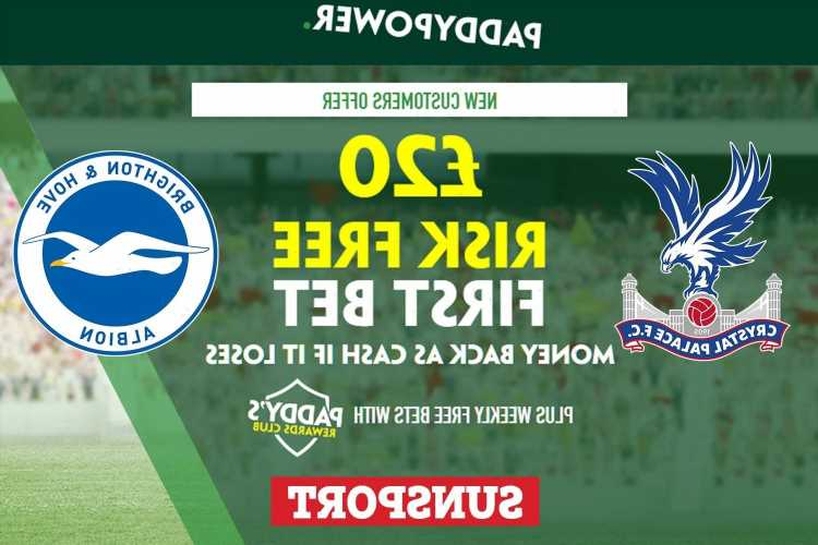 Crystal Palace vs Brighton – Claim £20 risk FREE BET on Premier League clash, plus 91/1 Paddy Power special odds boost