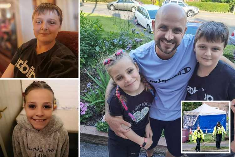 Devastated dad sobs 'life will never be the same' as kids, mum and pal killed on sleepover as man arrested for 'murder'