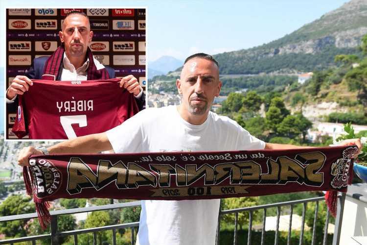Ex-Bayern Munich star Franck Ribery joins Serie A minnows Salernitana on free transfer after leaving Fiorentina