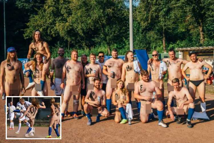 Germany's naked football DESPERATE to play England to get revenge for Euros