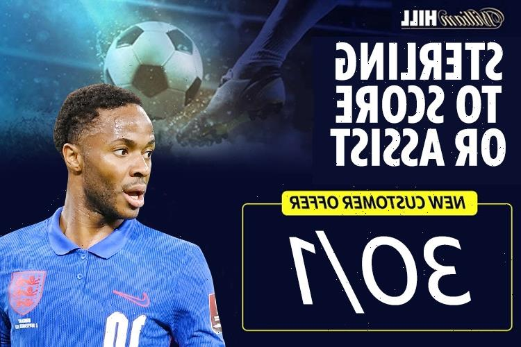Get Raheem Sterling at 30/1 to score or assist for England against Poland in World Cup qualifier with William Hill