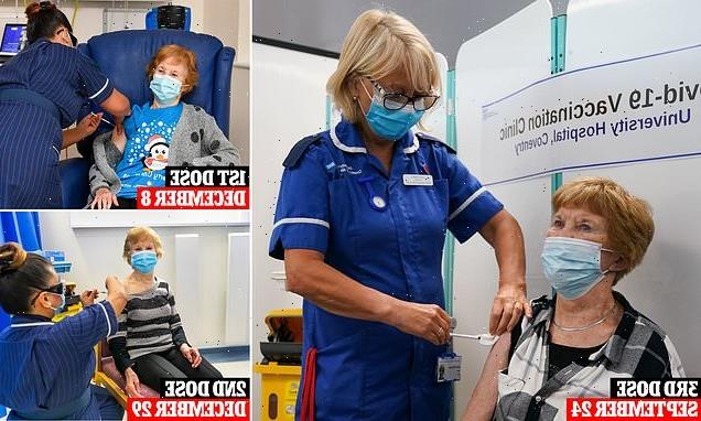 Grandmother Maggie Keenan gets her booster vaccine
