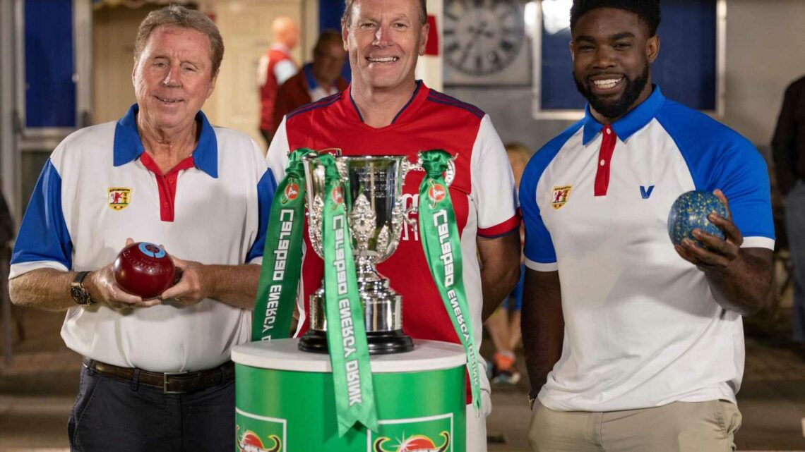Harry Redknapp and Micah Richards conduct Carabao Cup draw… from a bowls club in Bedfordshire