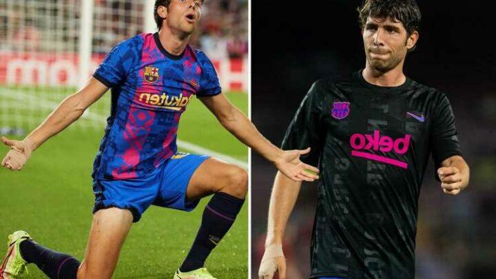 Heartbroken Sergi Roberto 'breaks down in tears in Barcelona dressing-room' over fans' booing in defeat to Bayern