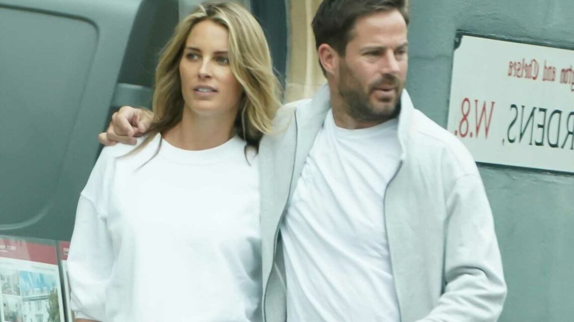 Jamie Redknapp wraps his arm around pregnant girlfriend Frida Andersson on cosy outing