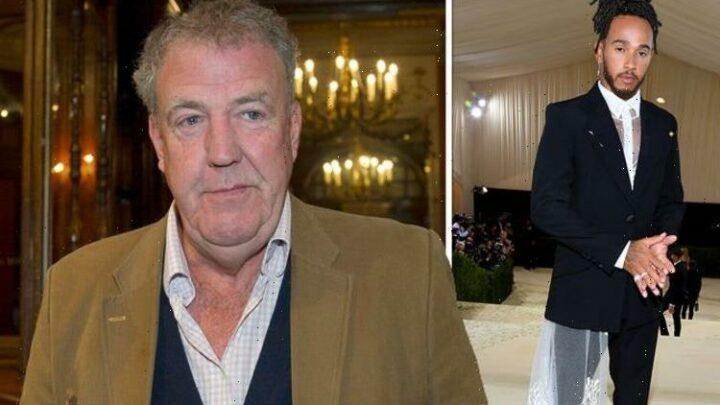 Jeremy Clarkson mocks Lewis Hamilton's 'wedding dress' Met Gala look in head injury jibe