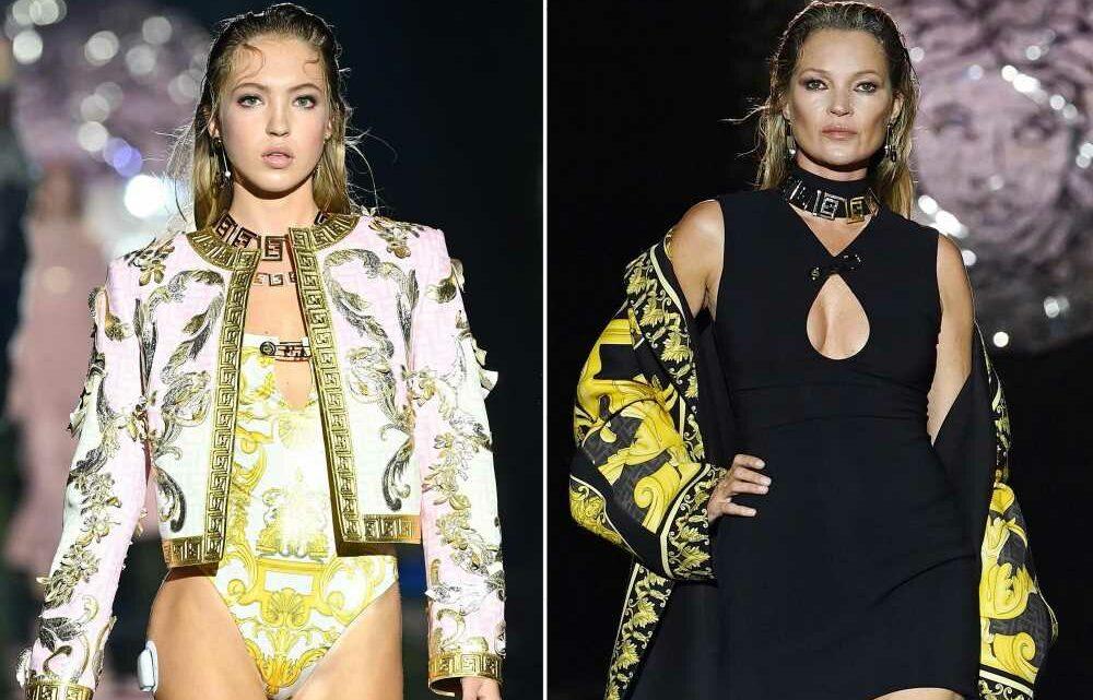 Kate Moss and daughter Lila, 18, walk same runway at Milan Fashion Week