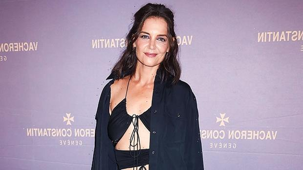 Katie Holmes, 42, Stuns In A Sexy Black Cutout Dress At Store Opening In NYC — Photos