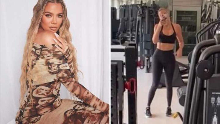 Khloe Kardashian shows off incredible abs in workout gear after getting 'BANNED' from Met Gala 'for being too C-list'